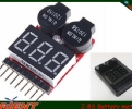 LiFe Li-ion Lipo 2-8S Battery meter/monitor with Low Voltage Alarm
