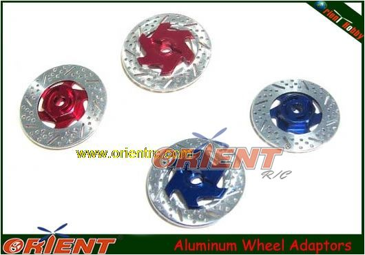 Aluminum Wheel Adaptors w/ inseparate bracke disc